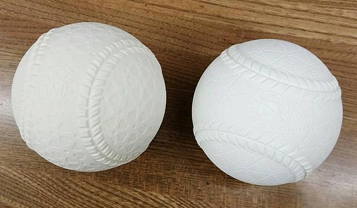 ナガセケンコー軟式野球M号ボールと以前のボールの比較