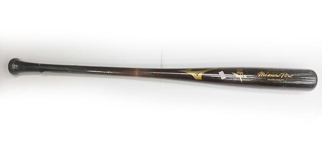 中田選手用硬式木製バット。プロ野球選手向けに作ったけど、選手が手にしなかったバット・白木のバットをブラウンに塗り直し
