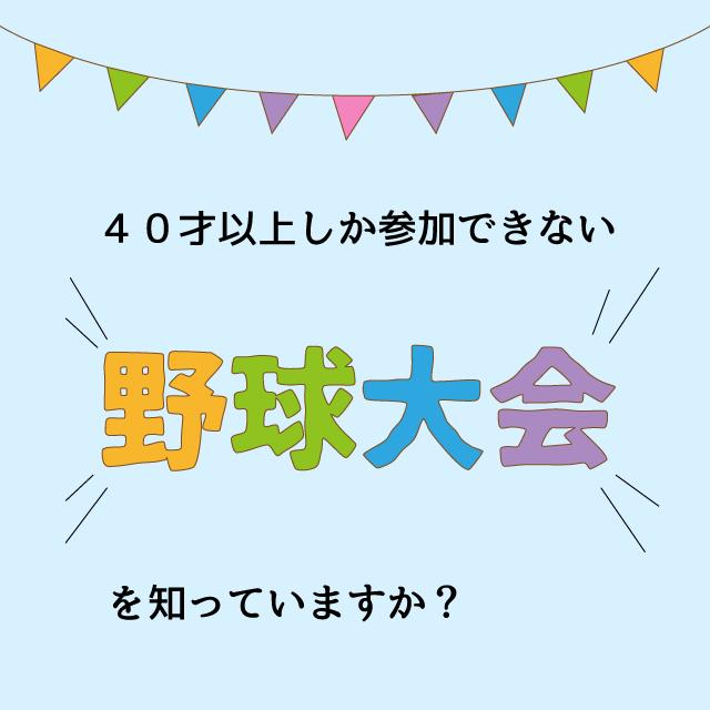 日本スポーツマスターズ軟式野球大会