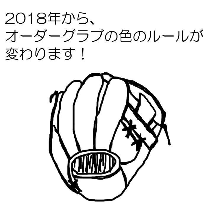 2018年より、オーダーグラブ(グローブ)の色についてのルールが変更