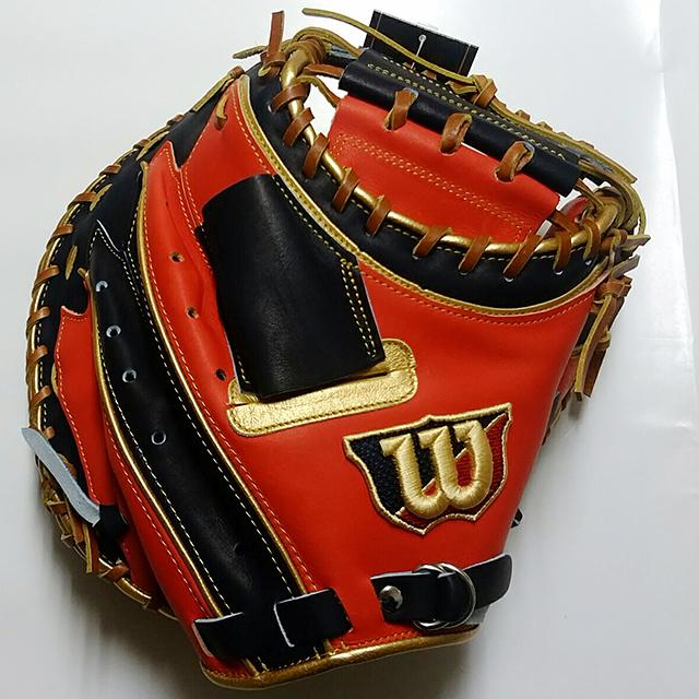 「ウィルソン」軟式野球用キャッチャーミット(ワナビーヒーロー)2016年2月新発売モデル表側