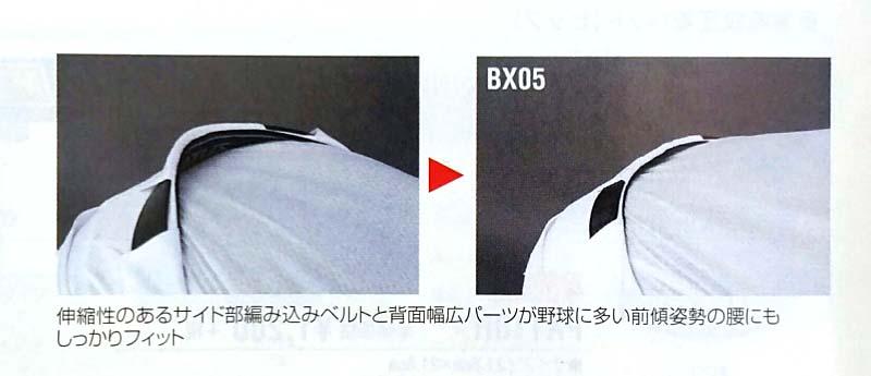 【ゼット/ZETT】ベルト:BX05・背面全体にしっかりとフィット
