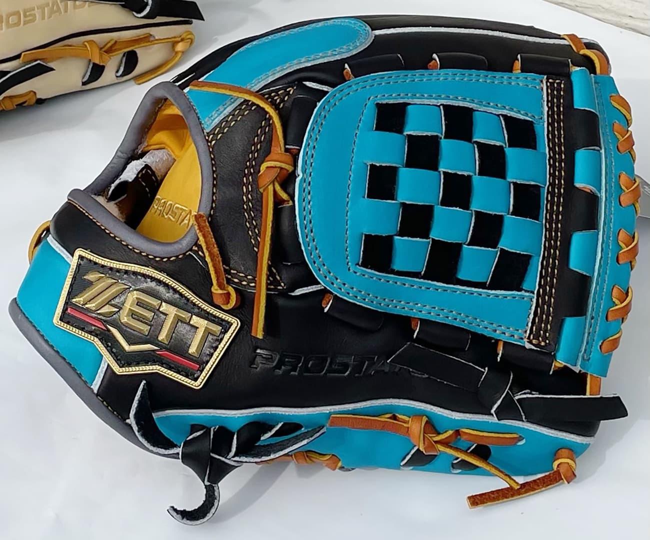 【源田壮亮選手モデル】ゼットプロステータス軟式野球用グラブ(内野手用・限定モデル) 青 表