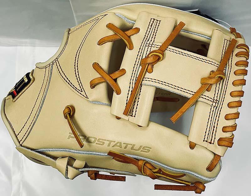 ゼットプロステータス硬式野球用グラブ(今宮モデル・パステルブラウン・ショート・セカンド・右投)表面