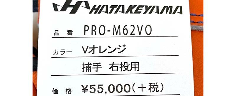 【ハタケヤマ】硬式野球用キャッチャーミット(甲斐モデル)値札