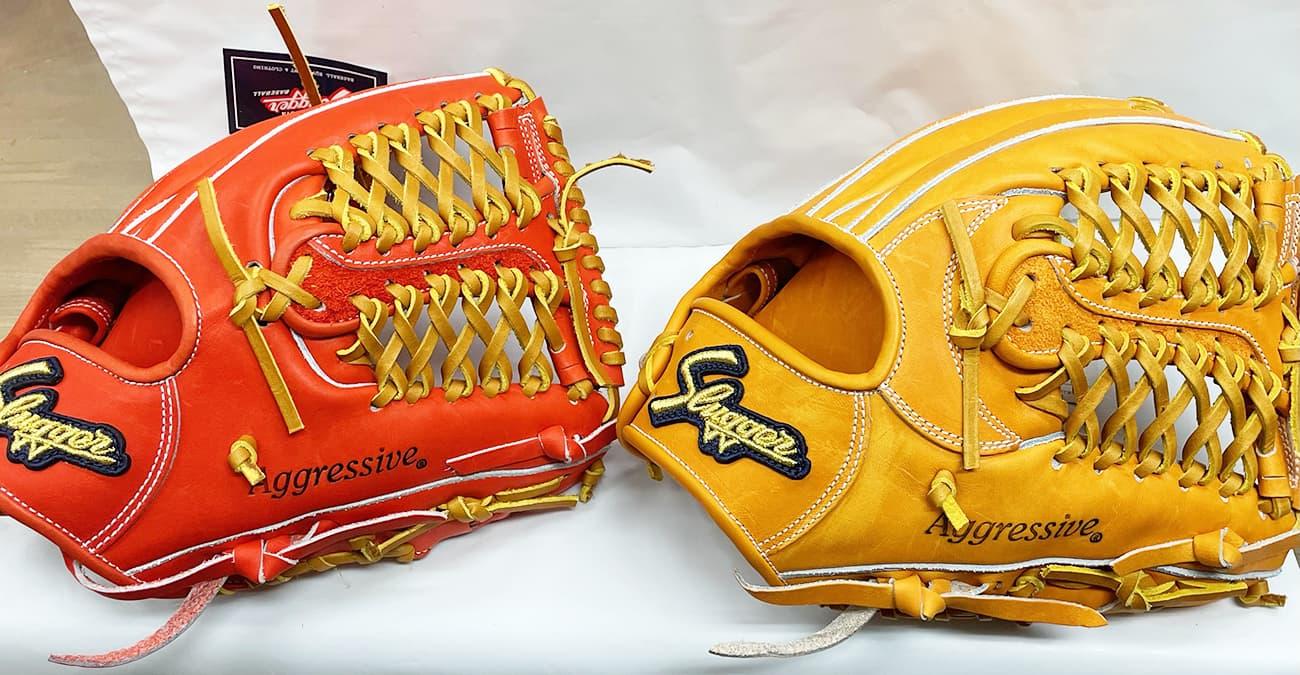 鳥谷敬モデル「T1」と「M00」の比較(久保田スラッガー硬式野球用グラブ・内野手)表面2