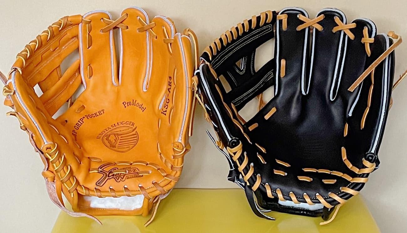 【クボタスラッガー】硬式野球グラブ・KSGAR4(内野手・右投げ)AR4とAR3比較2