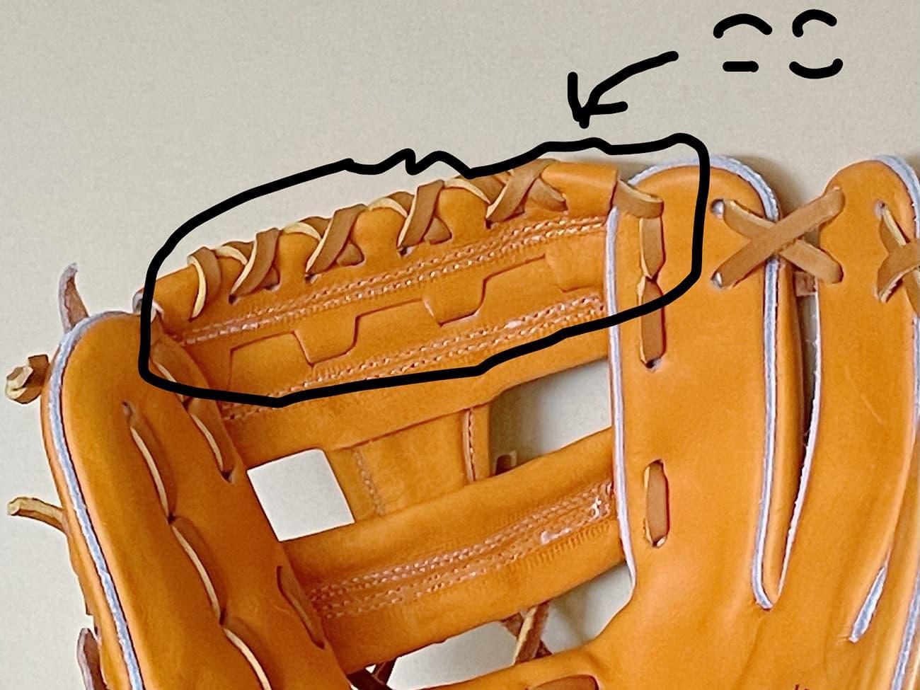【クボタスラッガー】硬式野球グラブ・KSGAR4(内野手・右投げ)ウェッブ先形状