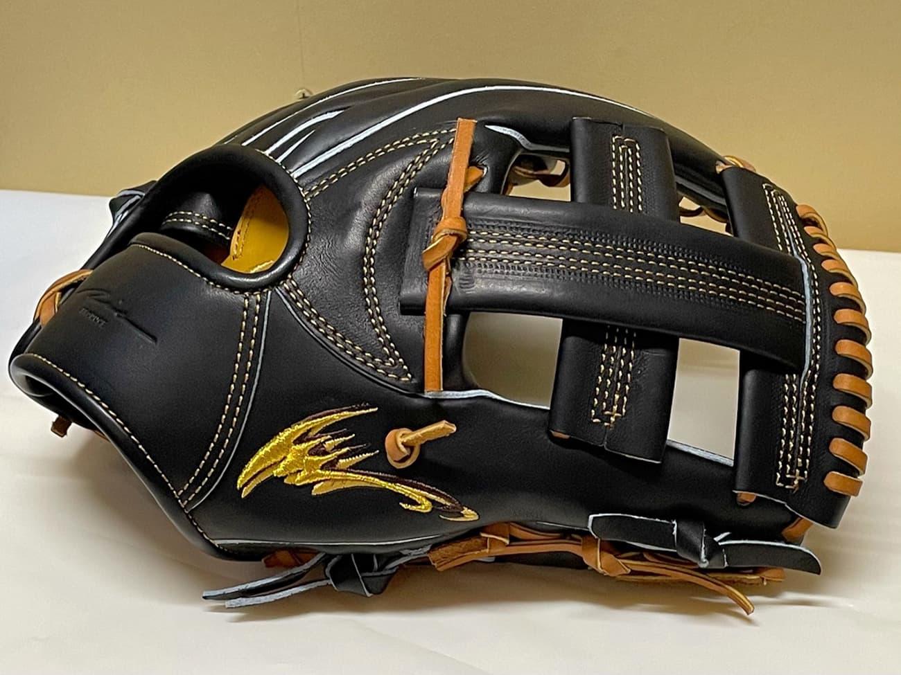 【IPセレクト】【十河モデル】硬式野球用グラブ(内野手・Luxury Collection 限定)側面