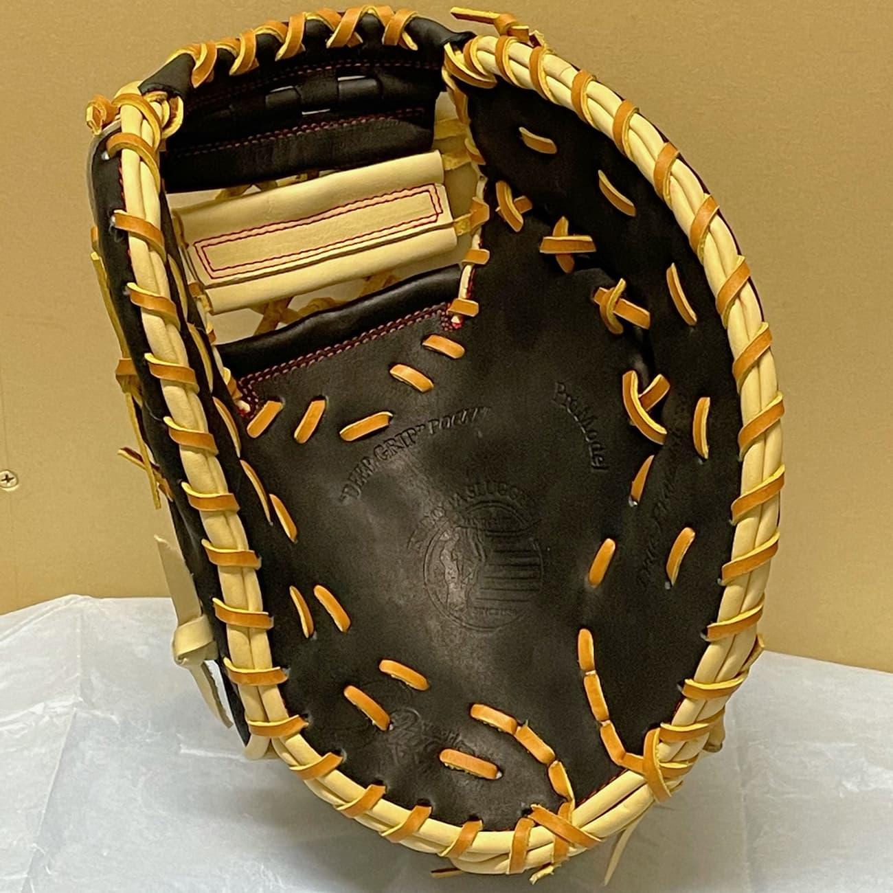 【久保田スラッガー】軟式野球用ファーストミット:KSF333(右投げ)捕球面1