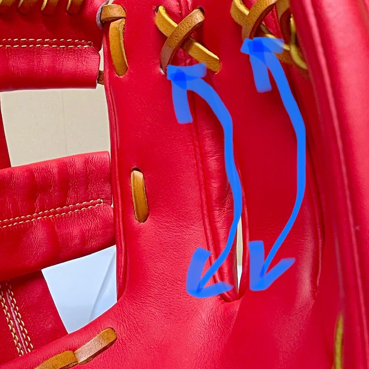 【ウイルソン】硬式野球用グラブ デュアルテクノロジー WTAHWSDLT(内野手用・右投げ)指袋にハミダシが2つつく
