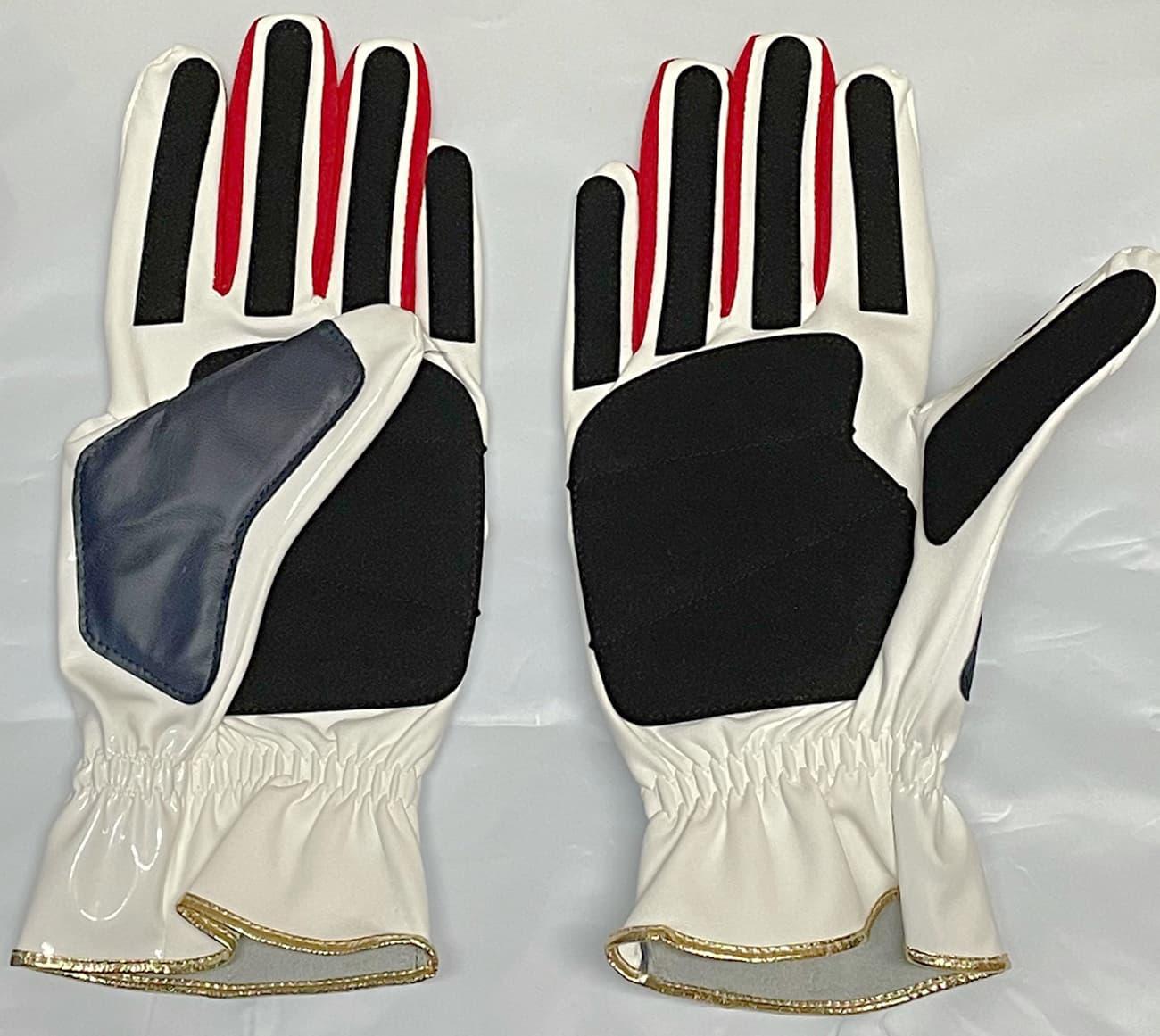 久保田スラッガー走塁用手袋 S140R 手の平部分 白