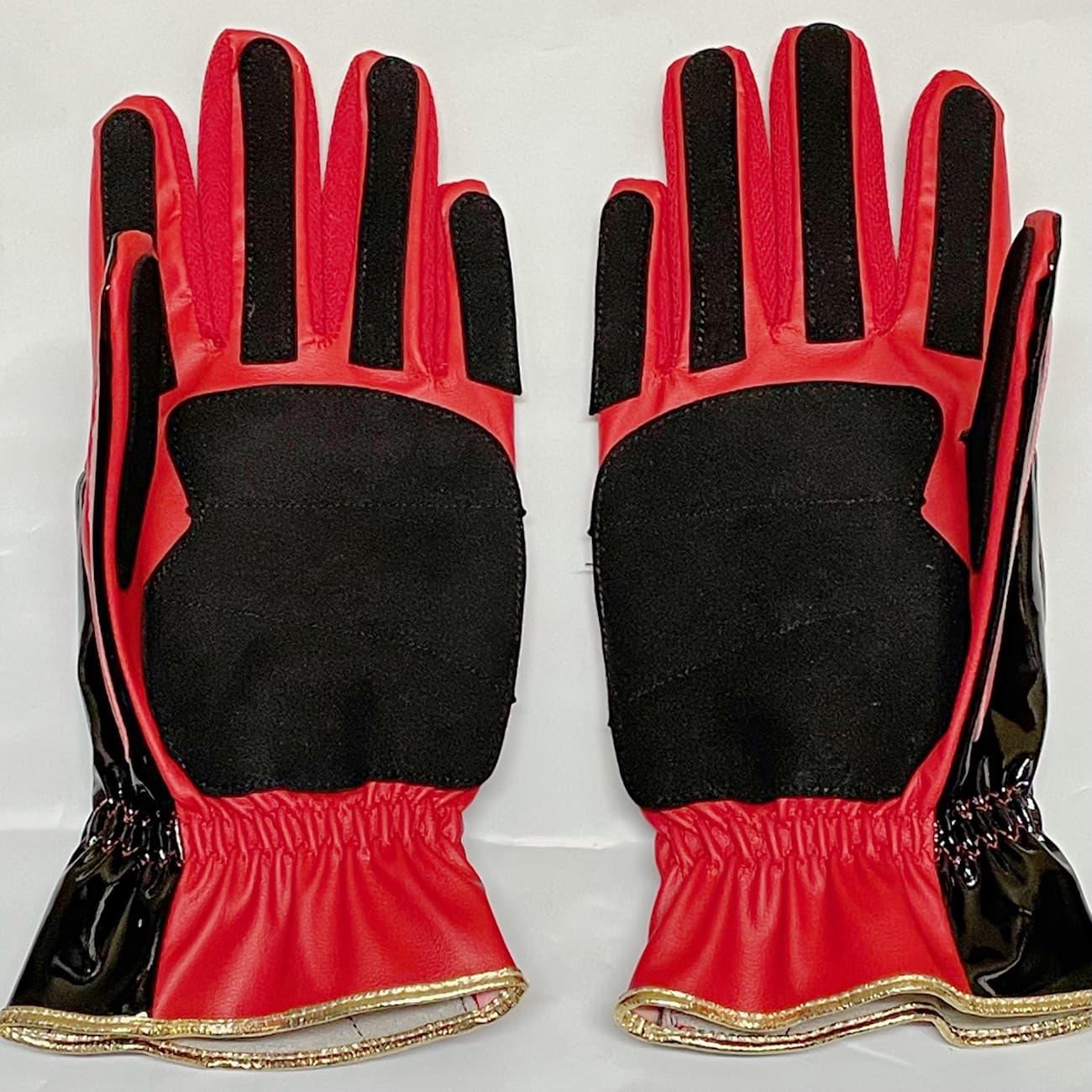 久保田スラッガー走塁用手袋 S140R 手の平部分 赤