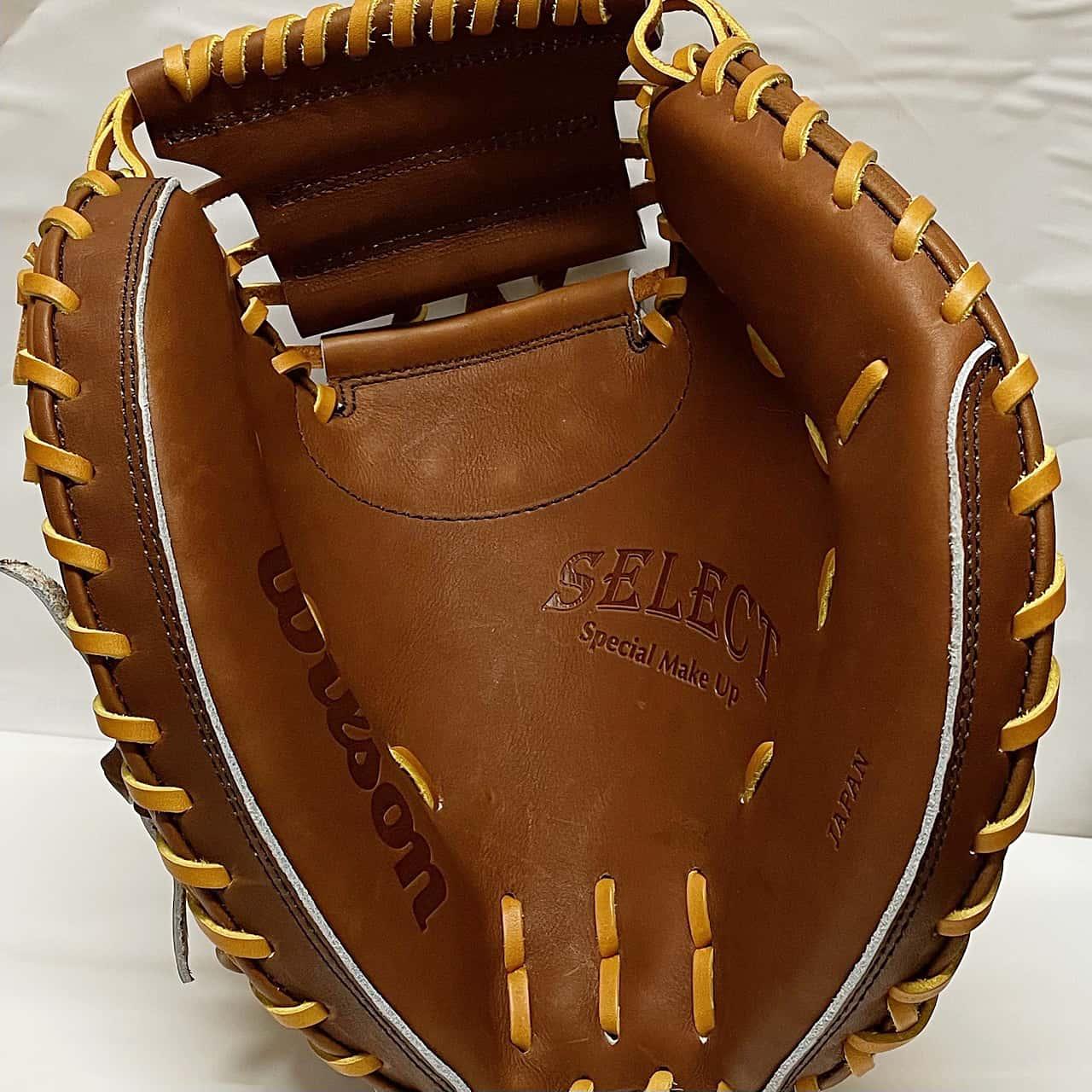 【ウイルソン】硬式野球用キャッチャーミット:WTAHBT23N(SELECTシリーズ・日本製)捕球面