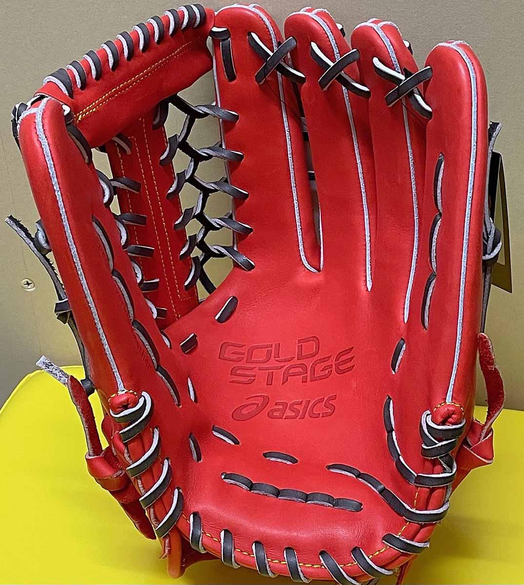 【アシックス】硬式野球用グラブ・外野手用:3121A671捕球面