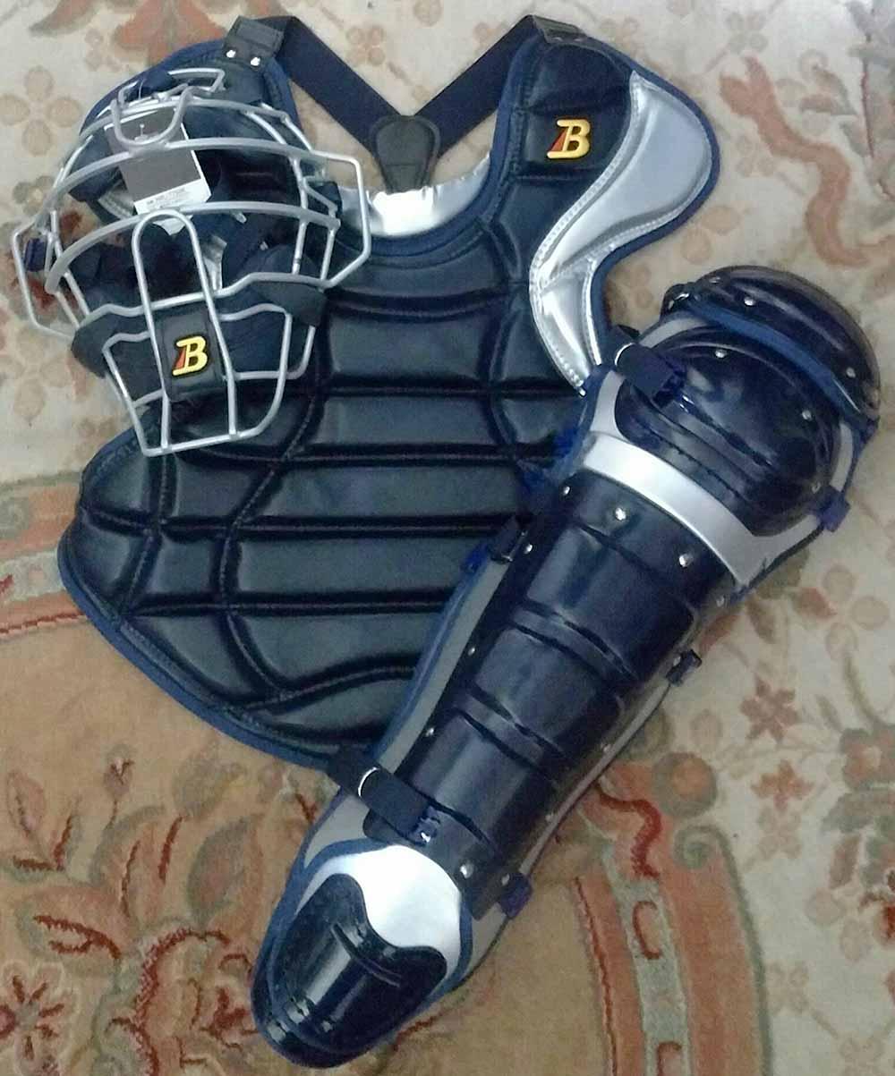 【ベルガード】硬式野球用キャッチャー防具一式セット(マスク・プロテクター・レガース)黒色