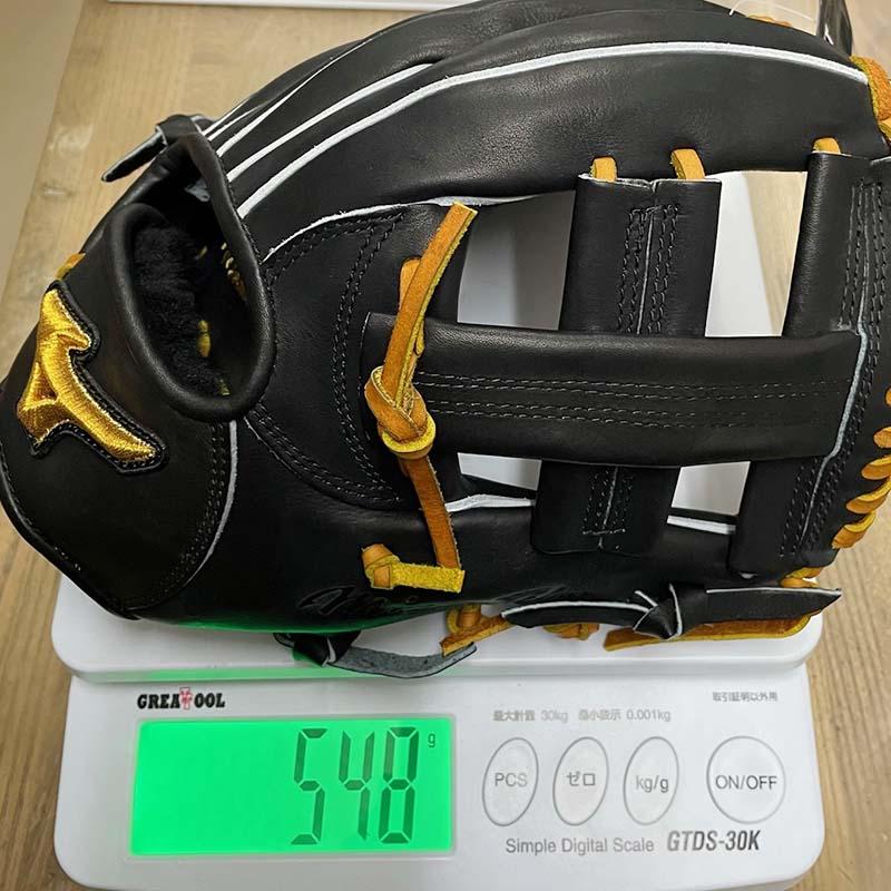 【ミズノプロ】硬式野球用グラブ/グローブ:菊池凉介モデル(内野手・限定・ブラック)表面1