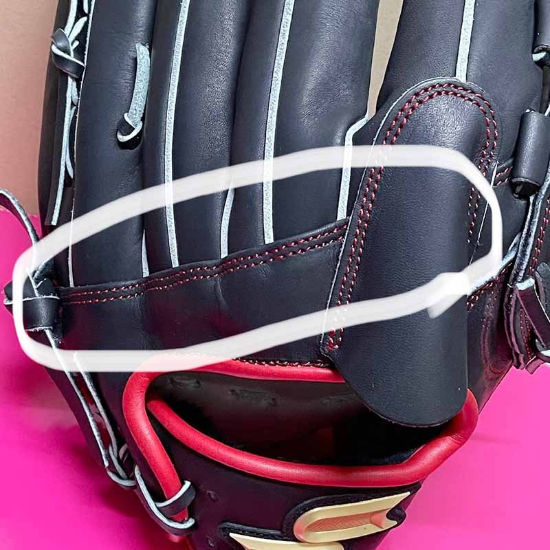 【SSK】プロエッジ軟式野球用グラブ/グローブ(西勇輝投手モデル・投手用)背面部分