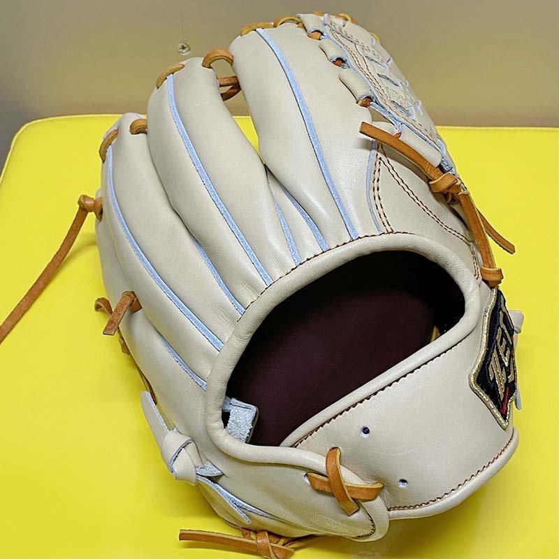 【ZETT/ゼット】プロステータス硬式野球用グラブ・グローブ(セカンド・ショート・パールブラウン✕オークブラウン)表面