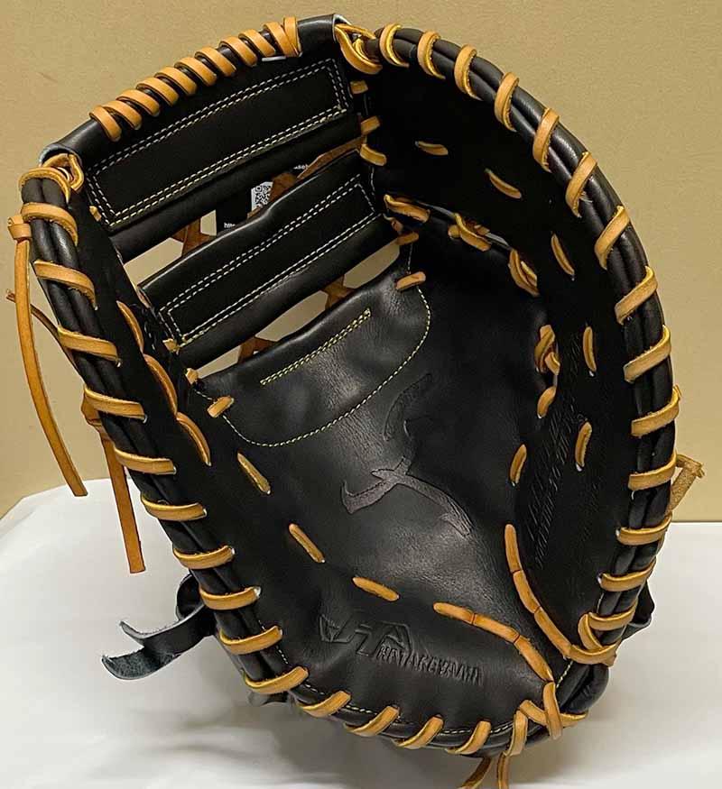 【ハタケヤマ】硬式野球用ファーストミット(Q-HT・久硬式シリーズ)捕球面