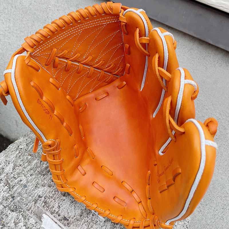 【ZETT/ゼット】硬式野球用グラブ・グローブ(投手用・プロステータスプレミアム・限定グラブ)BPROGP11。捕球面1