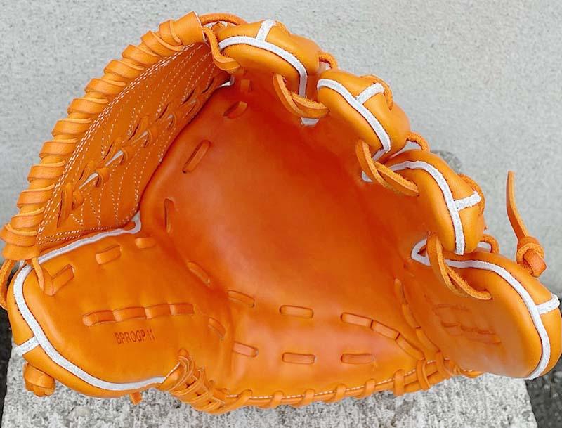 【ZETT/ゼット】硬式野球用グラブ・グローブ(投手用・プロステータスプレミアム・限定グラブ)BPROGP11。捕球面2