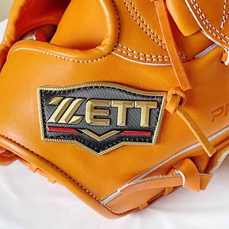 【ZETT/ゼット】硬式野球用グラブ・グローブ(投手用・プロステータスプレミアム・限定グラブ)BPROGP11。プロステータスラベル