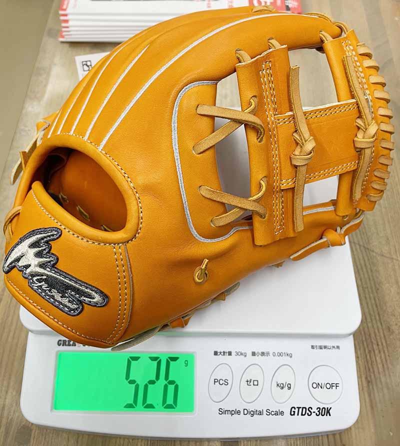 【アイピーセレクト】硬式野球用グラブ・グローブ(内野手用・EXCELLENT COLLECTION)IP060EC。重さ526g