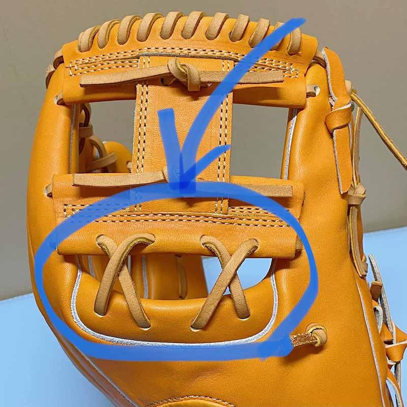 【アイピーセレクト】硬式野球用グラブ・グローブ(内野手用・EXCELLENT COLLECTION)IP060EC。ウェッブ