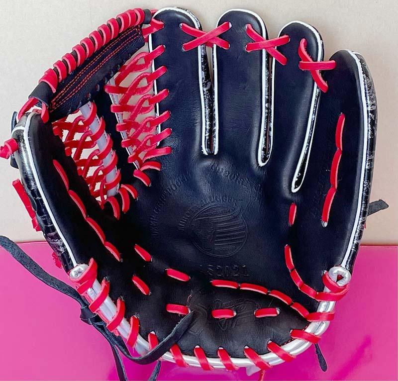 【久保田スラッガー】軟式野球用グラブ・グローブ(2021オールスター限定モデル・内野手用)SP-2021G・捕球面1
