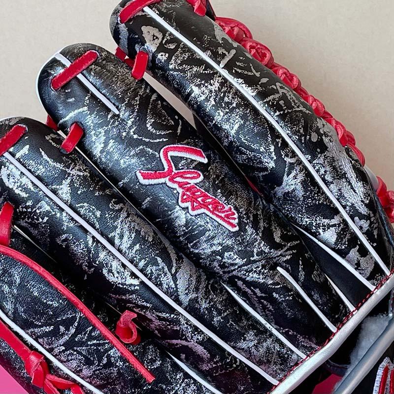 【久保田スラッガー】軟式野球用グラブ・グローブ(2021オールスター限定モデル・内野手用)SP-2021G・中指のスラッガー直刺繍