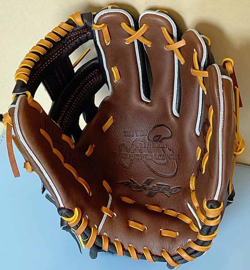 【ハタケヤマ】軟式野球用グラブ・グローブ(内野手・右投げ)WN2176・捕球面