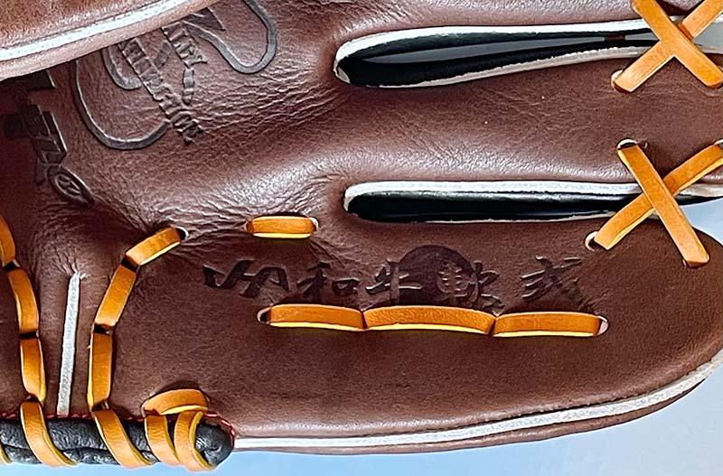 【ハタケヤマ】軟式野球用グラブ・グローブ(内野手・右投げ)WN2176・和牛刻印