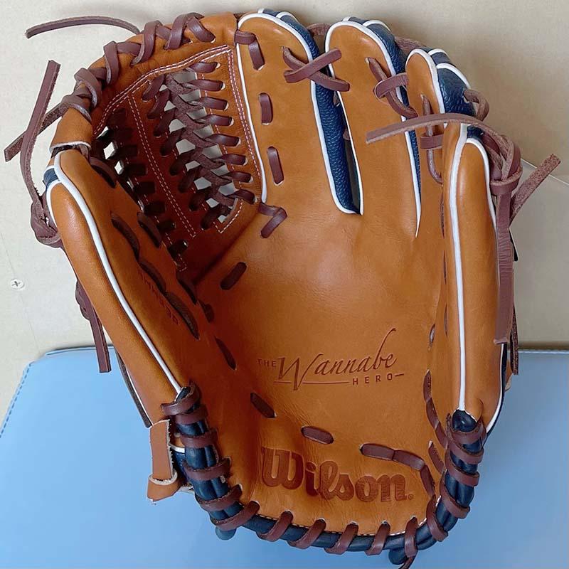 【ウイルソン】軟式野球用グラブ・グローブ(オールラウンド用)WTARHH33P・捕球面