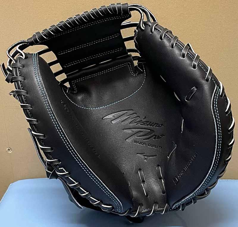 【ミズノプロ】硬式野球用キャッチャーミット(限定ダイバーシティーマークモデル)1AJCH25210 09X・捕球面