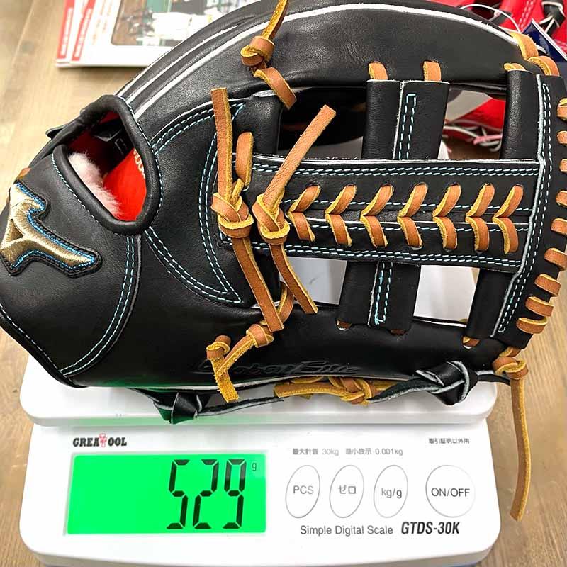 【ミズノ】硬式野球用グラブ(内野手用・グローバルエリート・H Selection INFINITY・限定)・重さ529g