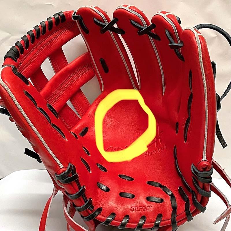 【ウイルソン】硬式野球用グラブ・グローブ(内野手用・デュアルテクノロジー)WTAHWED5D・捕球箇所1