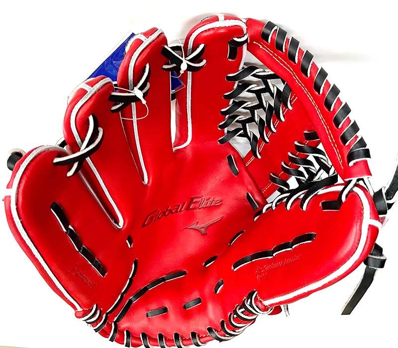 【ミズノ】硬式野球用グラブ・グローブ(グローバルエリート・外野手用・H Selection 03・左投げ)1AJGH24607・捕球面2