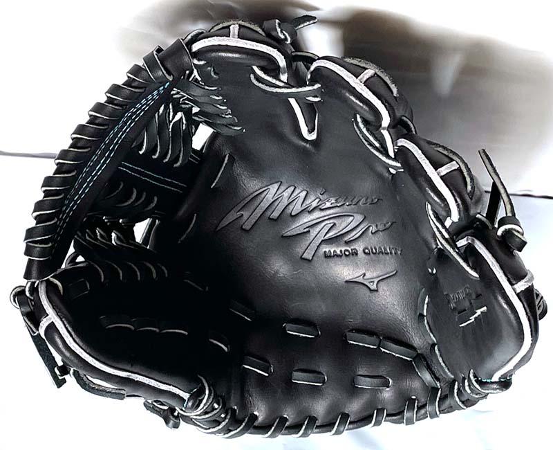 【ミズノプロ】硬式野球用グラブ・グローブ(内野手用・DNA Premium Model・ダイバーシティブルーロゴマーク)1AJGH25223・捕球面2