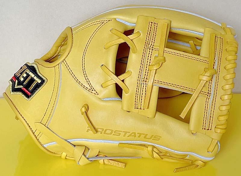 【ゼット/ZETT】硬式野球用グラブ・グローブ(ショート・セカンド用・プロステータス・今宮健太選手モデル)BPROG760・ウェブ