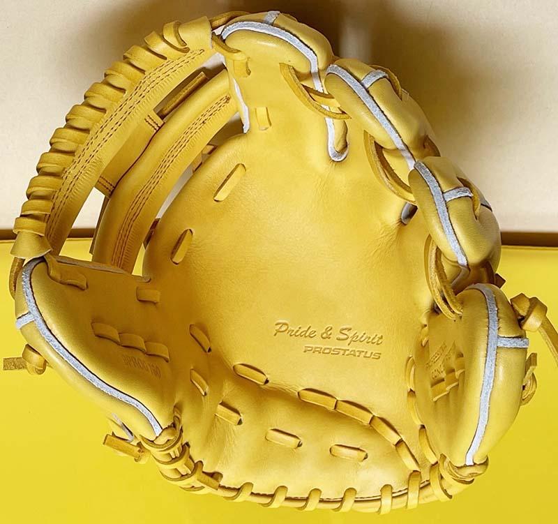 【ゼット/ZETT】硬式野球用グラブ・グローブ(ショート・セカンド用・プロステータス・今宮健太選手モデル)BPROG760・捕球面