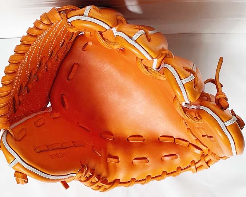 【ゼット/ZETT】硬式野球用グラブ・グローブ(プロステータスプレミアム・投手用)BPROGP11・捕球面2