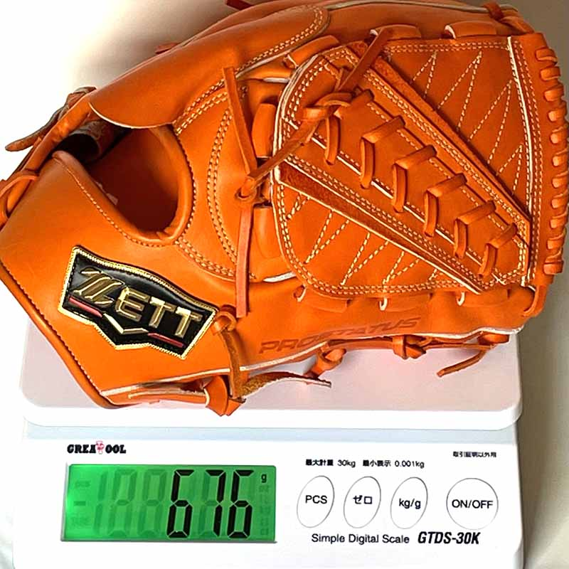 【ゼット/ZETT】硬式野球用グラブ・グローブ(プロステータスプレミアム・投手用)BPROGP11・重さ676g