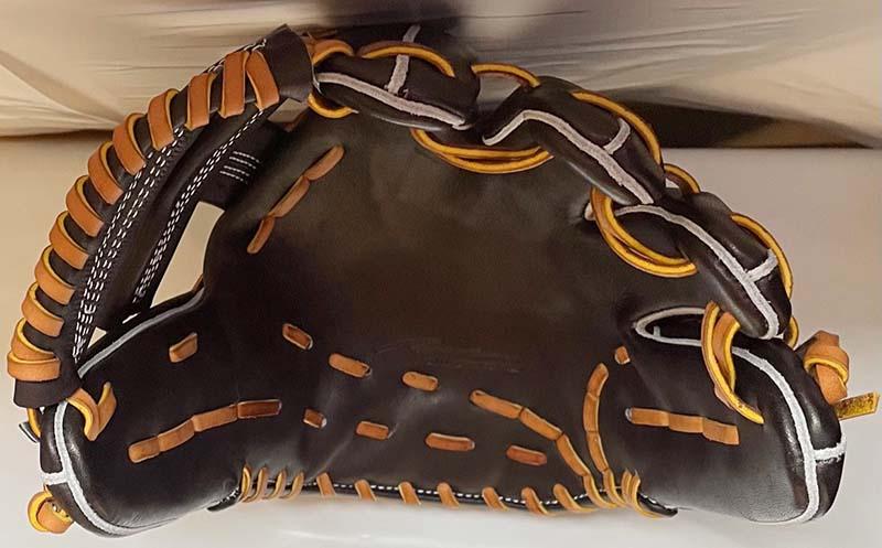 【アイピーセレクト】軟式野球用グラブ・グローブ(内野手用・PROGRESS RB COLLECTION)Ip.702-Pr・捕球面上から